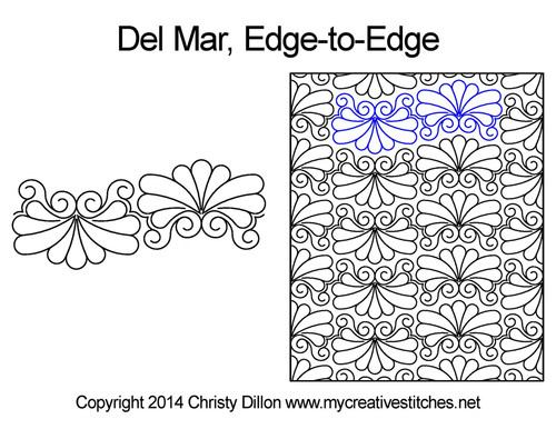 Del mar edge to edge quilt patterns