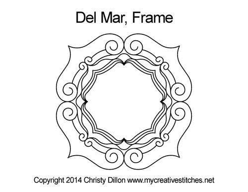 Del mar digitized frame quilting pattern