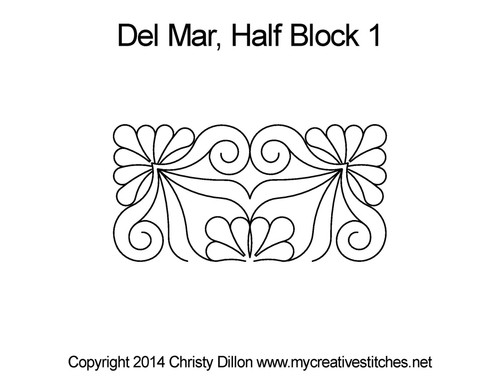 Del mar half block 1 quilt design