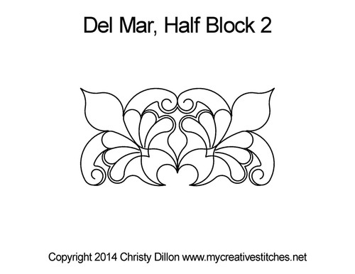 Del mar half block quilting patterns