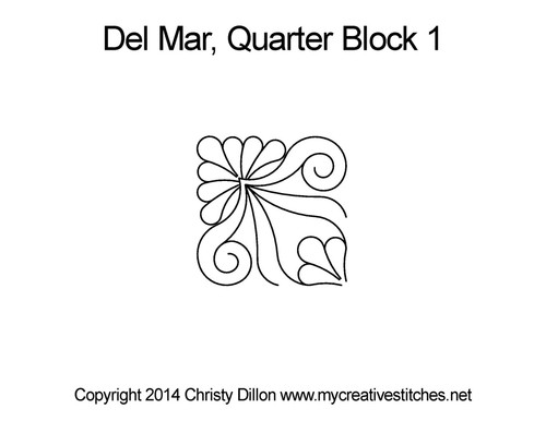 Del mar quarter block 1 quilt patterns