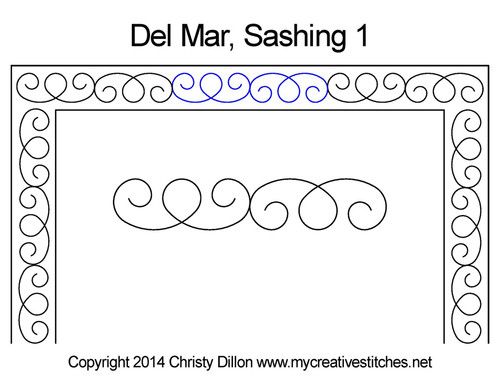 Del mar digitized sashing 1 quilt design