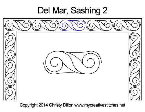 Del mar sashing 2 quilting pattern