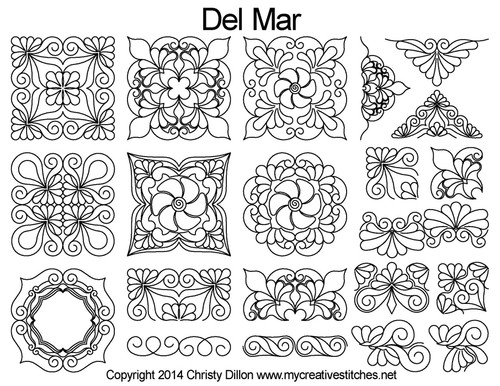 Del mar free arm quilting set