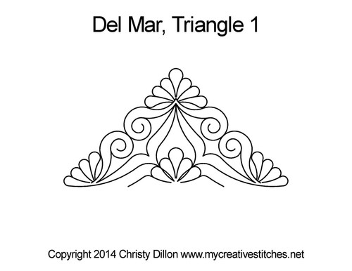 Del Mar digitized triangle quilting pattern