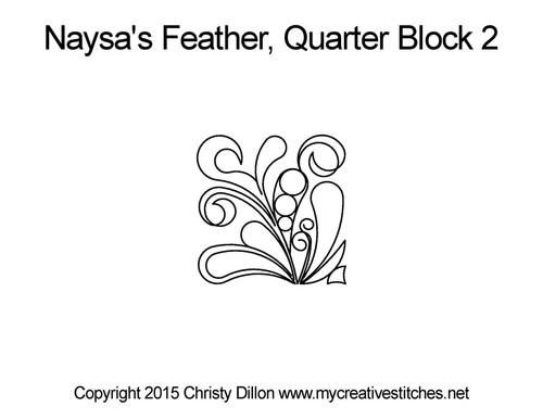 Naysa's feather quarter block 2 quilt patterns