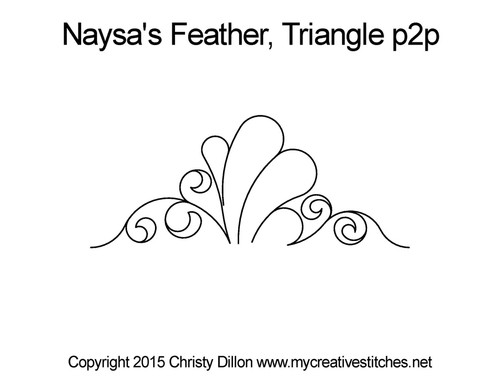 Naysa's feather triangle p2p quilt designs