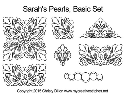 Sarah's pearls computerized quilt designs