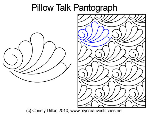 Pillow talk long arm quilting pantographs
