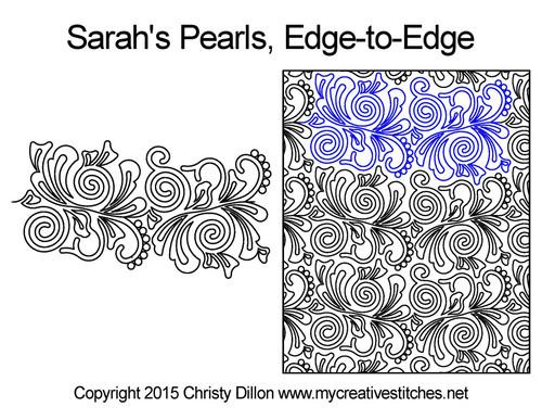 Sarah's pearls edge-to-edge quilt design