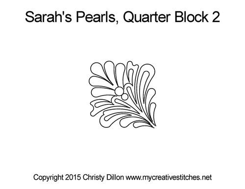Sarah's pearls quarter block 2 quilt design