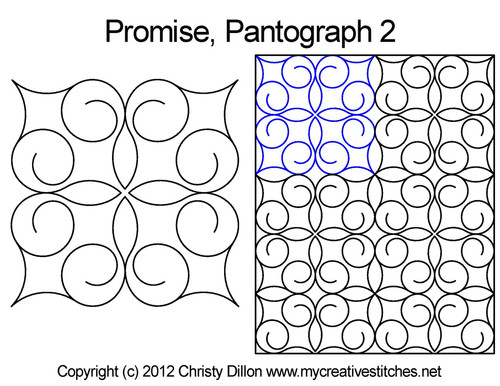 Promise long arm quilting pantograph 2
