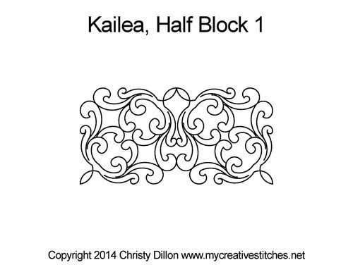 Kailea half block 1 quilt pattern