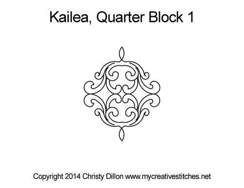 Kailea quarter block quilting design