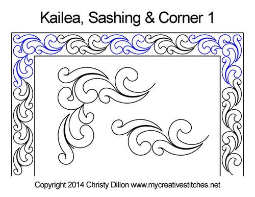 Kailea sashing corner digitized design