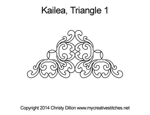 Kailea triangle block 1 quilt design