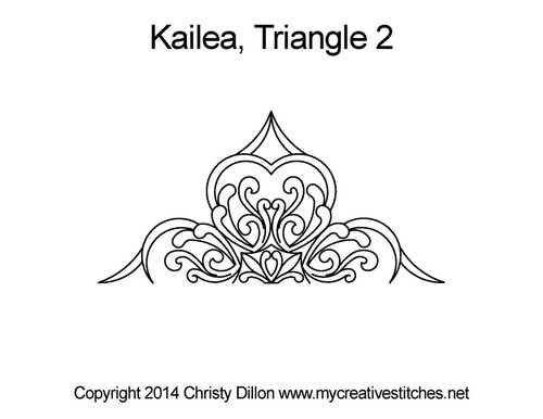 Kailea triangle 2 quilting pattern