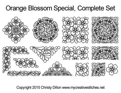 Orange blossom special digital quilt ideas