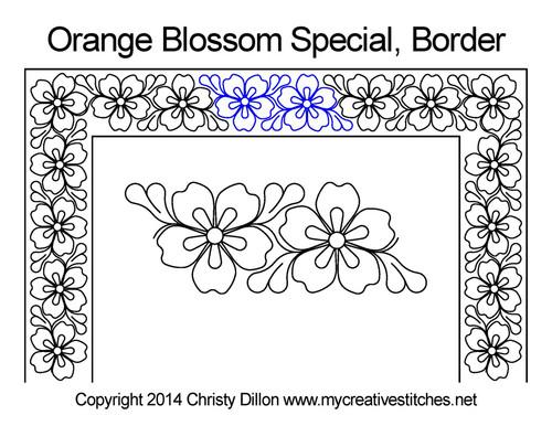 Orange blossom special border quilting design