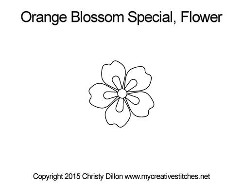 Orange blossom special flower quilt pattern