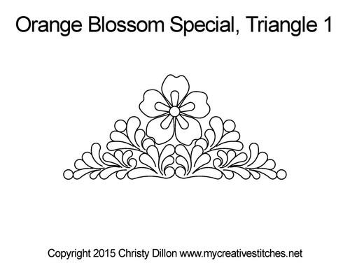 Orange blossom special triangle 1 quilting