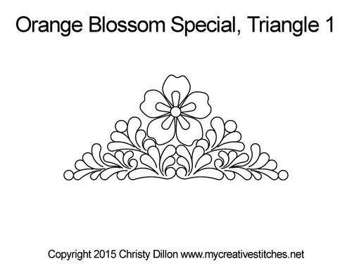 Orange blossom special triangle 1 quilting