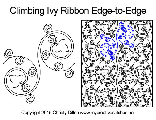 Climbing lvy ribbon edge to edge designs