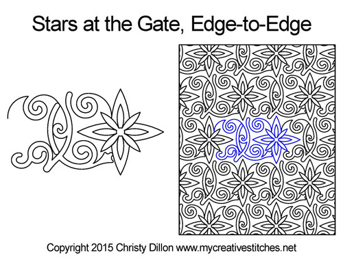 Star at the gate edge to edge designs