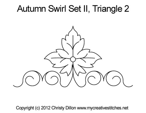 Autumn swirl quilting design for triangle 2