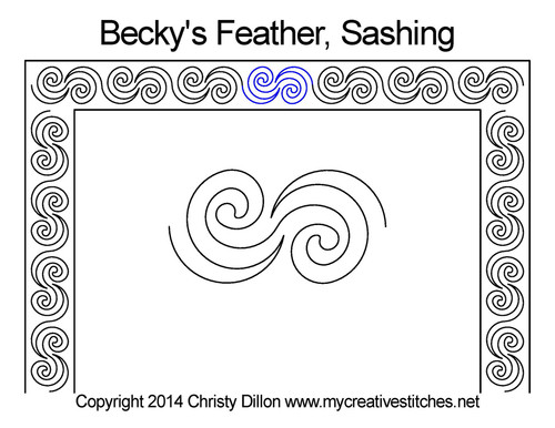 Becky's feather sashing quilt pattern