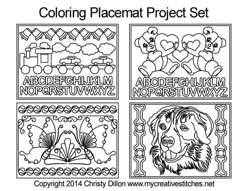 Coloring free placemat quilting project