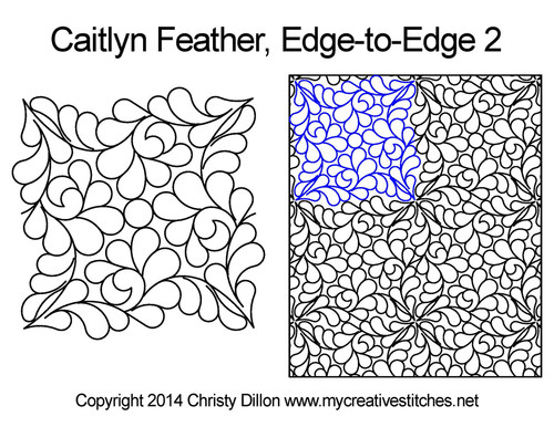 Caitlyn feather edge to edge computerized quilting