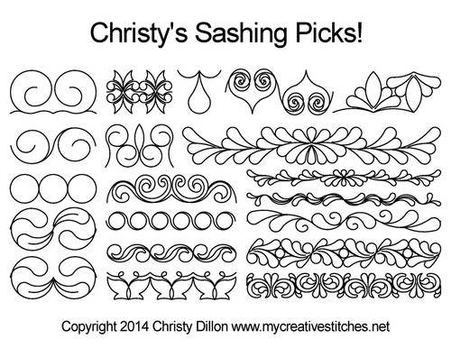 Christy's digital sashing pick quilt design