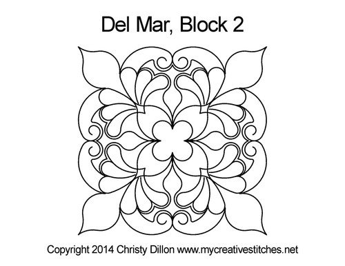 Del mar square block 2 quilt design