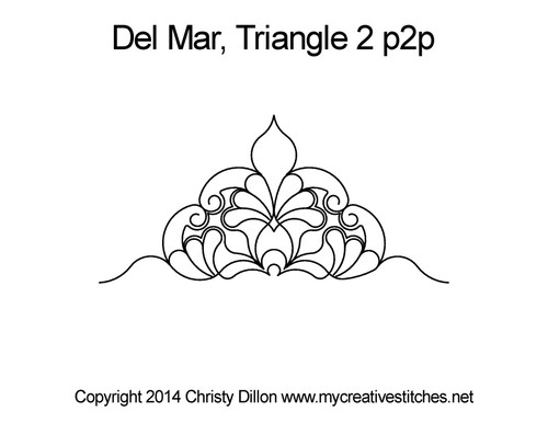 Del mar quilting pattern for triangle 2 p2p