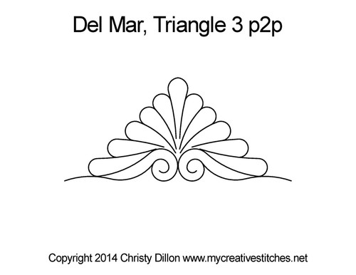 Del mar quilting pattern for triangle 3 p2p