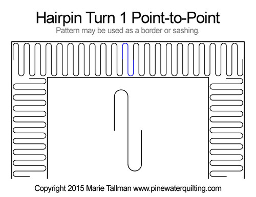 Hairpin turn 1 point-to-point quilt pattern