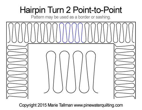 Hairpin turn 2 point-to-point quilt design