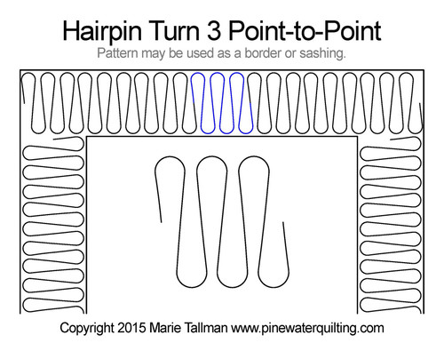 Hairpin turn 3 point-to-point quilt pattern