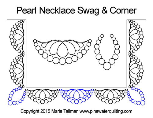 Pearl necklace swag & corner quilting pattern