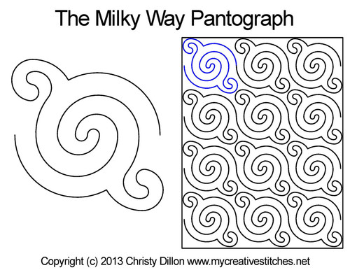 The Milky way digitized quilt pantograph