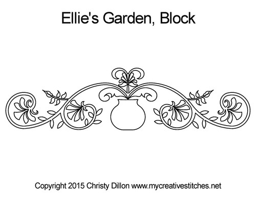 Ellie's garden quilt design for blocks