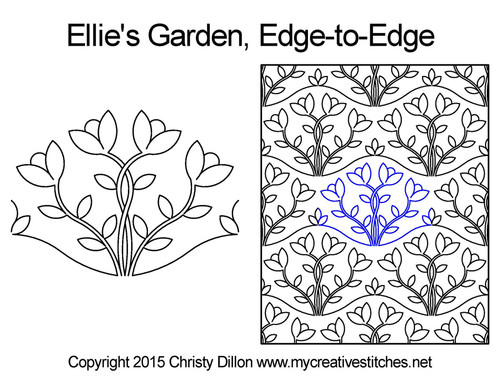 Ellie's garden edge to edge quilting design