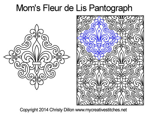 Mom's de lis quilting pantographs patterns