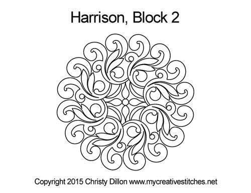 Harrison round block 2 quilt pattern