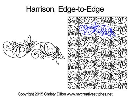 Harrison edge to edge quilt designs