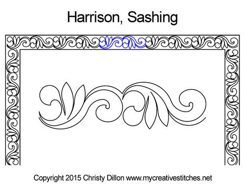 Harrison sashing quilt design