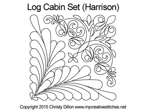 Log cabin harrison quilting designs