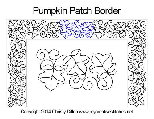Pumpkin patch border quilt pattern