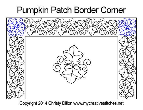 Pumpkin patch border & corner quilt pattern